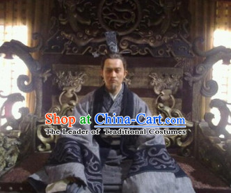 Eastern Zhou Dynasty Spring and Autumn Official Poet Minister Qu Yuan TV Drama Costume Complete Set for Men