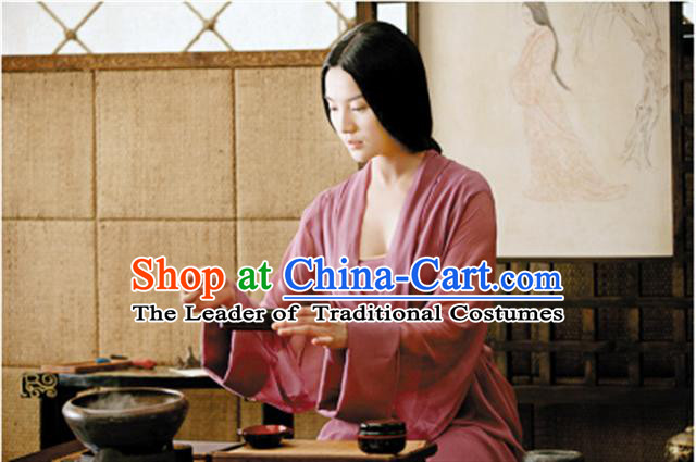 Chinese Eastern Zhou Dynasty Palace Empress Costume Complete Set for Women