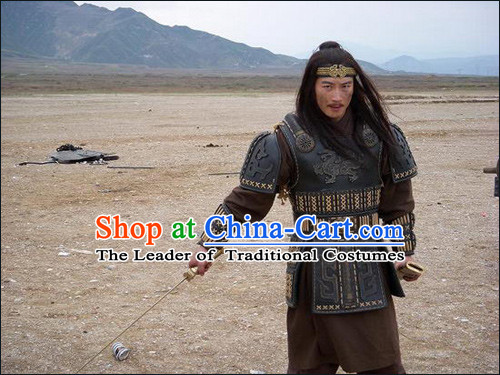 China Eastern Zhou Dynasty Palace Superhero Chinese Costume Armor Clothing Complete Set