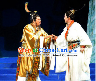 China Eastern Zhou Dynasty Palace Superhero Chinese Emperor Costume and Hat Complete Set for Men
