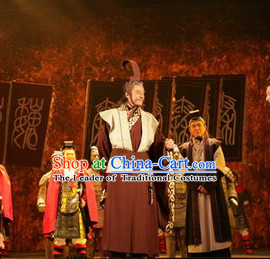 China Eastern Zhou Dynasty Chinese Official Costume Complete Set for Men