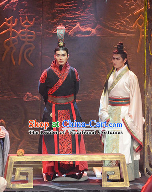 China Eastern Zhou Dynasty Chinese Emperor Costume Complete Set for Men
