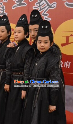 Chinese Costume Chinese Costumes National Garment Outfit Clothing Clothes Ancient Jin Dynasty Kids Dresses