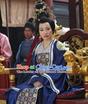 Chinese Costume Sui Dynasty Period Empress Costumes China Clothing Complete Set for Women