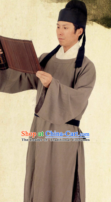 Renowned Chinese Poet and Tang Dynasty Government Official Bai Juyi Costume Complete Set for Men