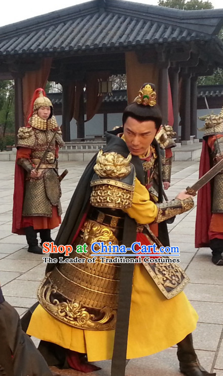 Tang Dynasty Chinese Prince Body Armor Costumes Costume Complete Set for Men