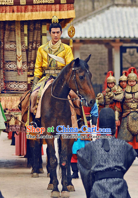 Tang Dynasty Chinese Costumes Prince Garment Outfits Clothing Costumes Costume Complete Set for Men