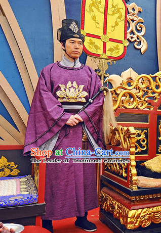 Tang Dynasty Chinese Eunuch Costumes Costume Complete Set for Men