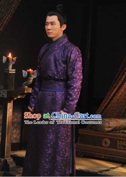 Tang Dynasty Chinese Zhangsun Wu Ji Costume Complete Set for Men