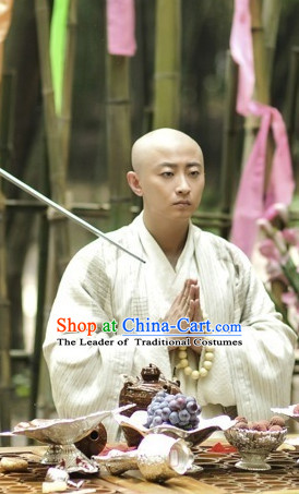 Tang Dynasty Monk Garment Outfits Clothing Costumes Costume and Hair Accessories Complete Set for Women
