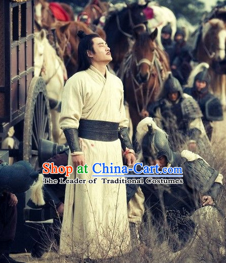 Ancient Chinese Costume Three Kingdoms Knight Costumes Garment Outfits Clothing for Men