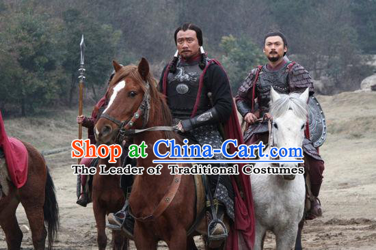 Genghis Khan Yuan Dynasty Emperor Leader Chinese Costume Complete Set for Men