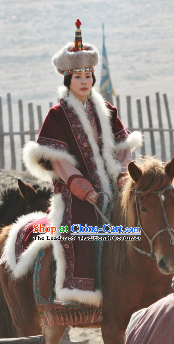 Yuan Dynasty Queen Garment Clothing Chinese Costume Complete Set for Women