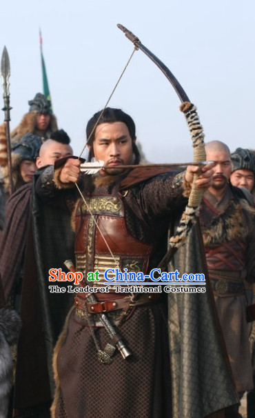 Song Dynasty General Han Shizhong Armor Costume Costumes Dresses Clothing Clothes Garment Outfits Suits Complete Set for Men