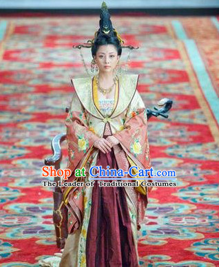 Song Dynasty Princess Empress Costume Costumes Dresses Clothing Clothes Garment Outfits Suits Complete Set for Women