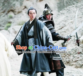 Yuan Dynasty People Costumes Dresses Clothing Clothes Garment Outfits Suits Complete Set for Men