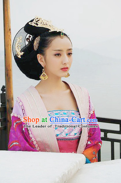 Chinese Han Dynasty Zhao Feiyan Wigs and Hair Accessories for Women