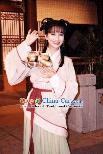 Chinese Qin Dynasty Lady A Fang Nv Dress Costumes Dresses Clothing Clothes Garment Outfits Suits Complete Set for Women