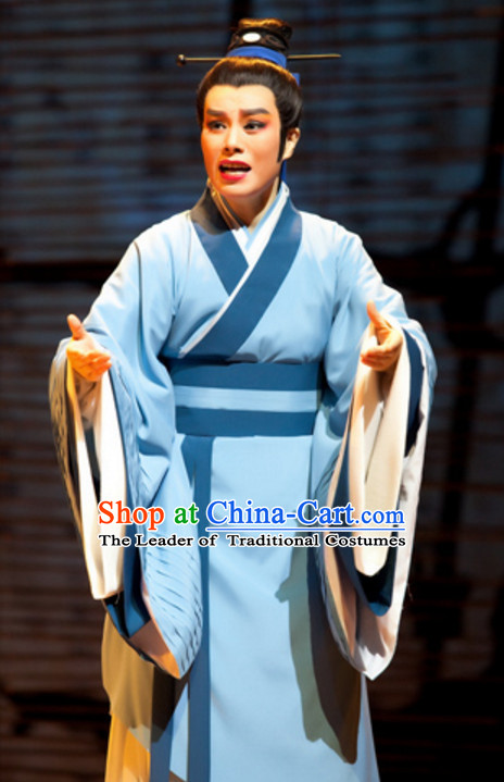 Chinese Han Dynasty Teacher Scholar Costume Dresses Clothing Clothes Garment Outfits Suits Complete Set for Women