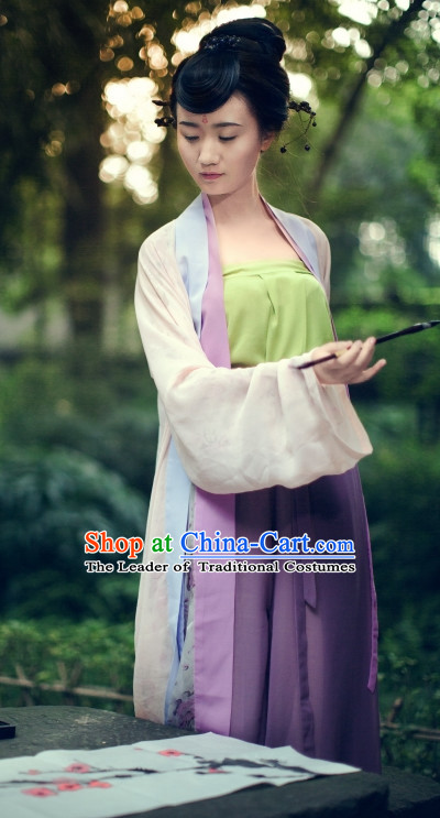 Chinese Costume Tang Dynasty Lady Clothes Free Custom Tailored Service