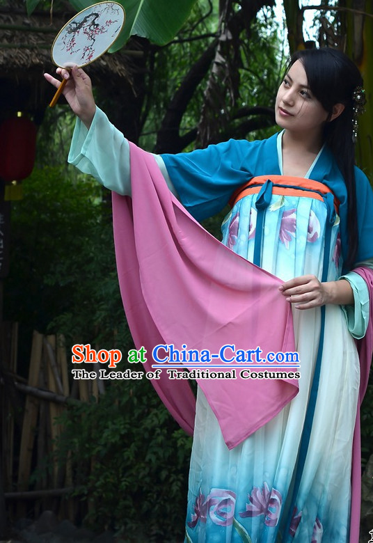 Chinese Costumes Tang Dynasty Classic Fan Dance Costume Free Custom Tailored Service