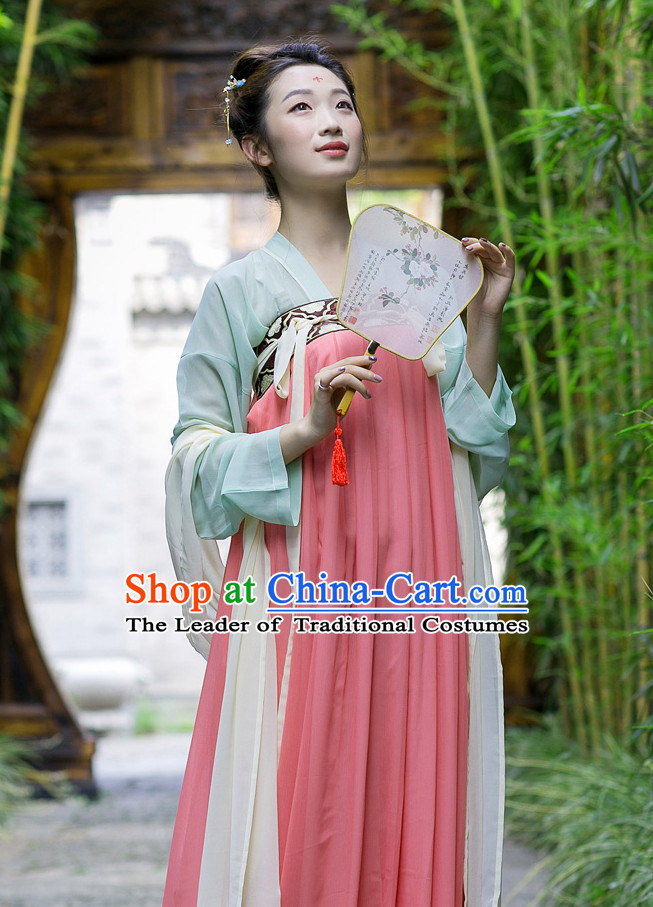 Tang Dynasty Ancient Chinese People Clothes Complete Set for Women
