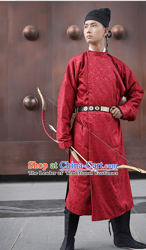 Tang Dynasty Ancient Chinese Men Clothing and Hat Complete Set