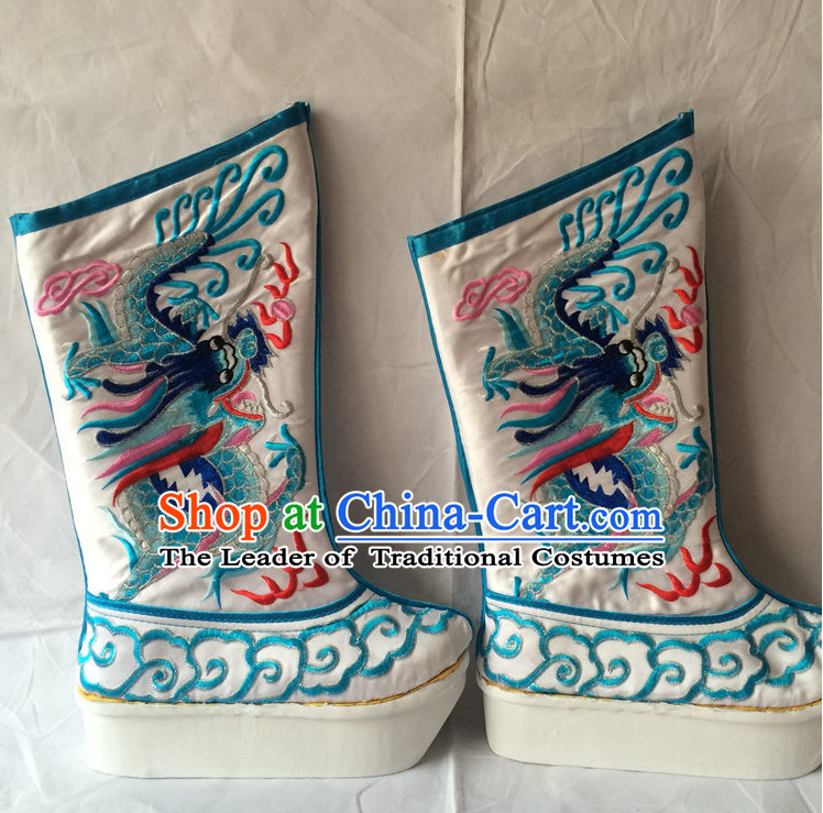 Classic Chinese Opera Embroidered Boots for Men