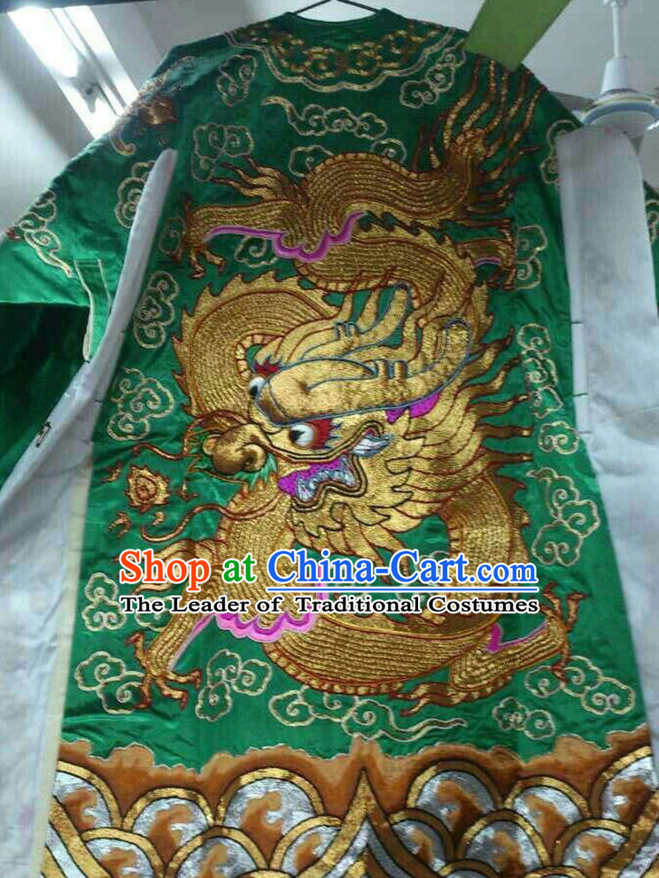 Chinese Opera Classic Dragon Robes Costumes Chinese Costume Dress Wear Outfits Suits for Men