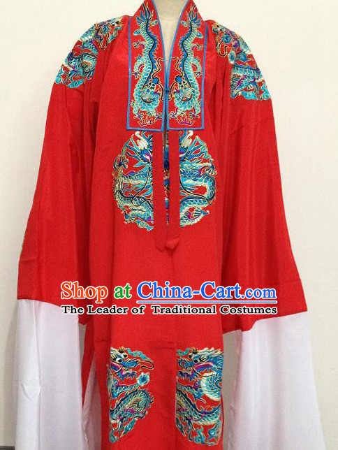 Chinese Opera Classic Embroidered Dragon Costumes Chinese Costume Dress Wear Outfits Suits for Men