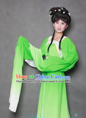 Chinese Opera Classic Water Sleeve Long Sleeves Costume Dress Wear Outfits Suits for Women