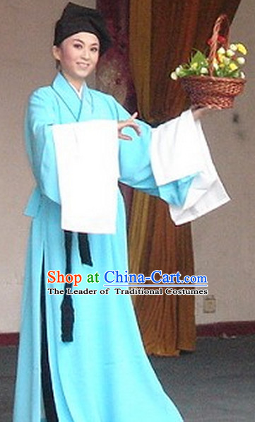 Chinese Opera Classic Water Sleeve Long Sleeves Costume Dress Wear Outfits Suits for Men