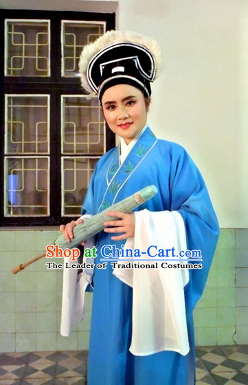 Chinese Opera Classic Water Sleeve Long Sleeves Scholar Costume Dress Wear Outfits Suits for Men