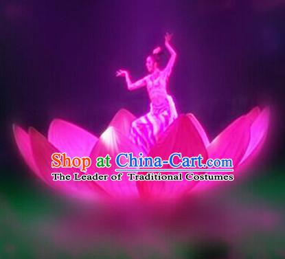 Chinese Dance Costumes Prop Classical Lotus Dance Costume Props Stage Performance Base Folk Decoration