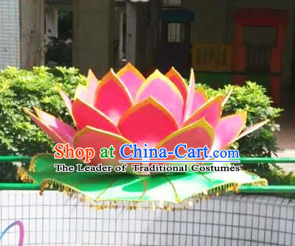 Electric Chinese Dance Costumes Prop Classical Lotus Dance Costume Props Stage Performance Base Folk Decoration