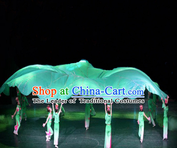 Giant Chinese Dance Apparel Flower Props Folk Dancing Prop Lotus Decorations