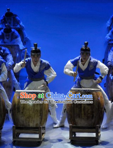 South Korean North Korea Chaoxian Ethnic Minority Folk Dance Costumes Complete Set for Men