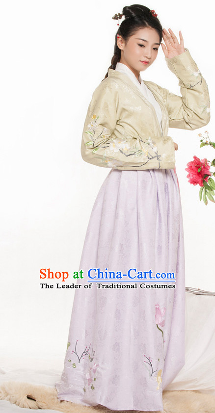 Chinese Ancient Han Dynasty Lady Spring Summer Costume China online Shopping Traditional Costumes Dress Wholesale Asian Culture Fashion Clothing and Hair Accessories for Women