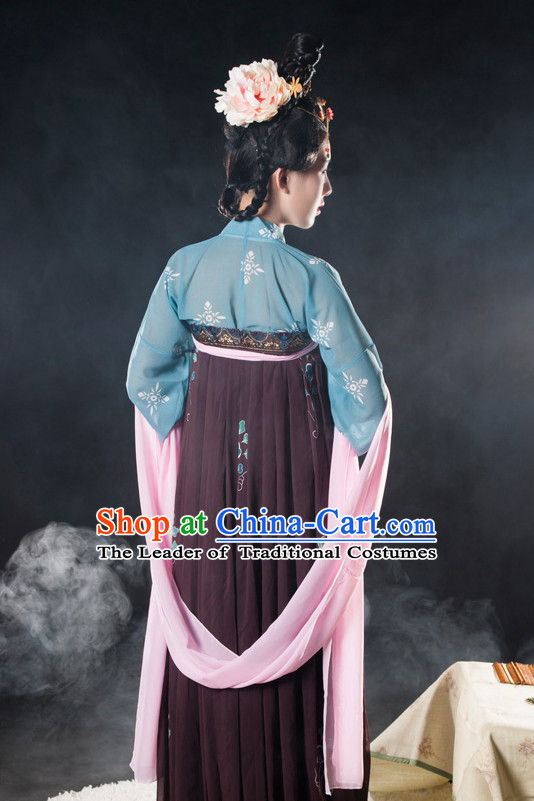 Asian Fashion Chinese Ancient Tang Dynasty Lady Clothes Costume China online Shopping Traditional Costumes Dress Wholesale Culture Clothing and Hair Accessories for Women