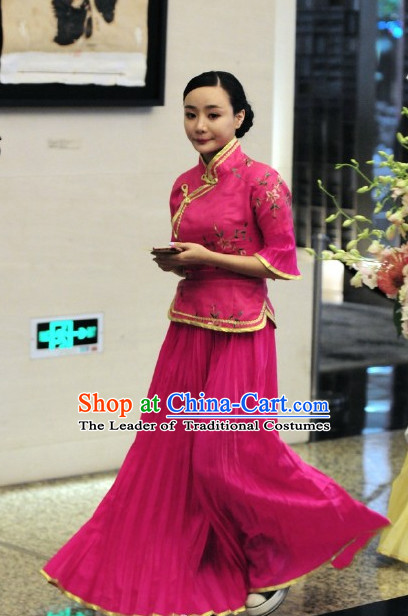 Chinese Wedding Bride Maid Costume Folk Chinese Group Dance Costumes Carnival Costumes Fancy Dress