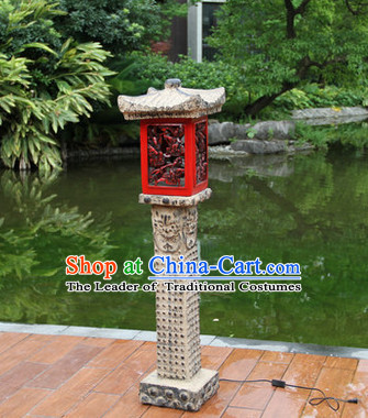 Ancient Chinese Tower Floor Lantern Set