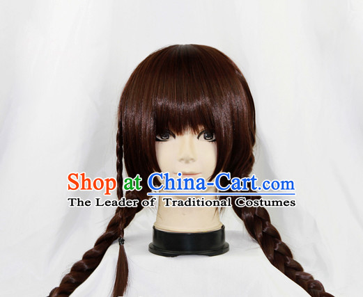 Chinese Ancient Swordwoman Long Black Wigs Classic Wig for Women