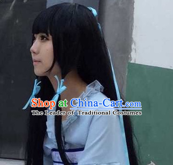 Ancient Asian Chinese Japenese Korean Knight Cosplay Long Wigs Classic Wig for Women