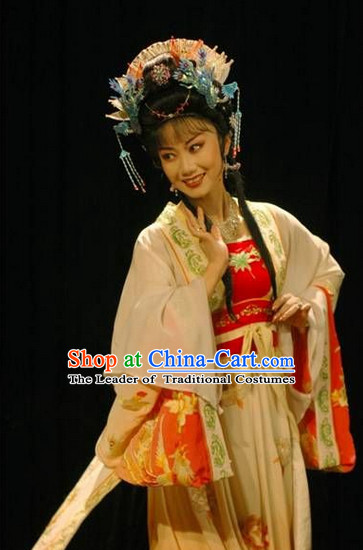Ancient Chinese Asian Peking Opera Costumes Princess Costume and Headwear Complete Set