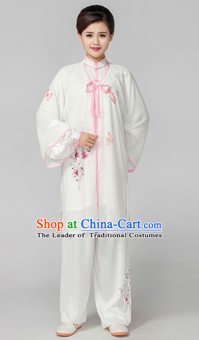 Top Embroidered Tai Chi Chuan Uniform Taekwondo Karate Outfit Aikido Wing Chun Kungfu Wing Tsun Boys Martial Arts Supplies Clothing and Mantle