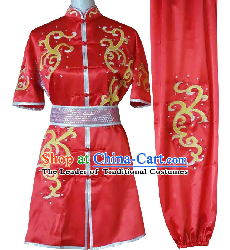 Top Embroidered Wing Chun Uniform Martial Arts Supplies Supply Karate Gear Tai Chi Uniforms Clothing for Women or Men