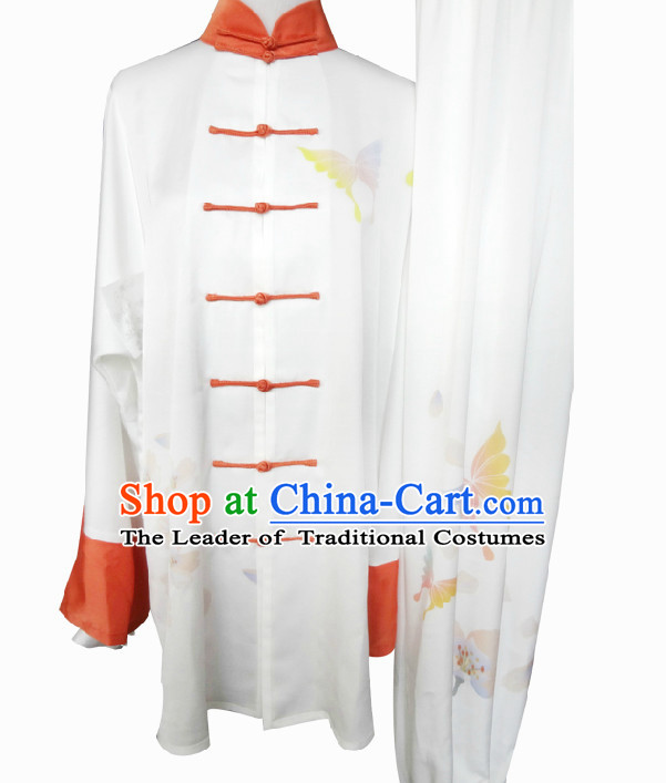 Top Long Sleeves Tai Chi Wing Chun Uniform Martial Arts Supplies Supply Karate Gear Martial Arts Uniforms Clothing for Women and Girls