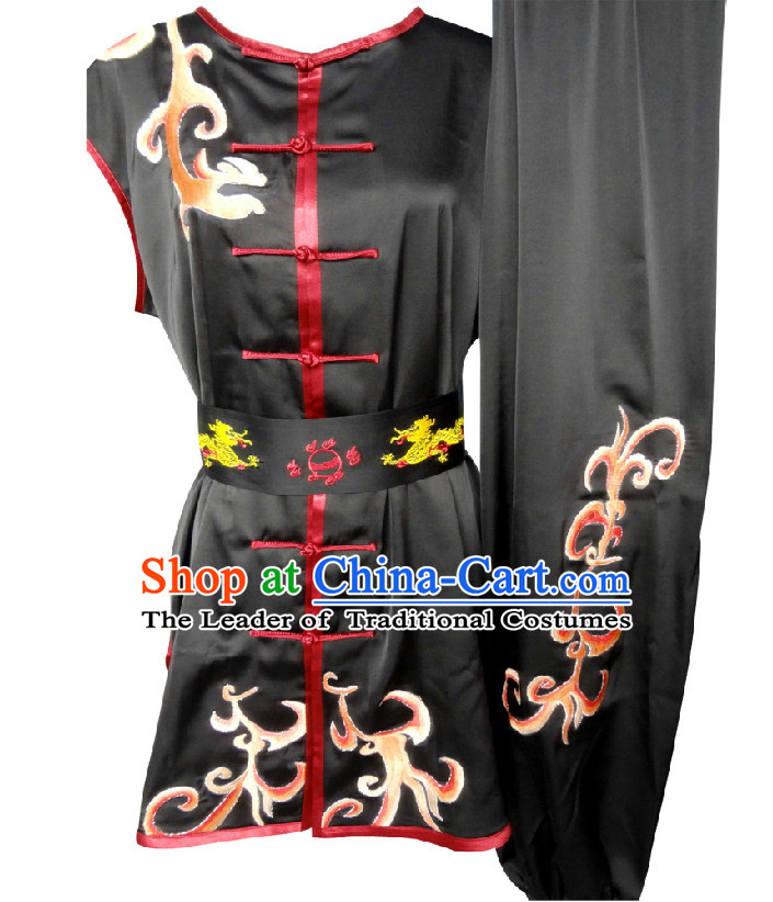 Top Sleeveless Embroidered Southern Fist Tai Chi Wing Chun Uniform Martial Arts Supplies Supply Karate Gear Martial Arts Uniforms Clothing for Men and Women