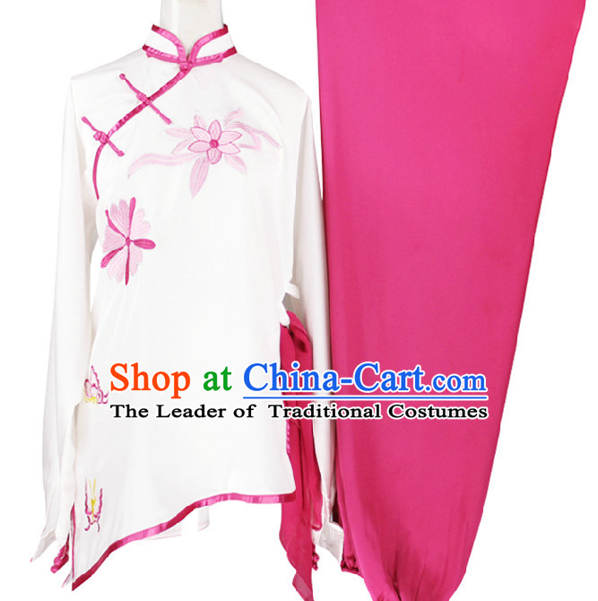 Top Tai Chi Wing Chun Uniform Martial Arts Supplies Supply Karate Gear Martial Arts Uniforms Clothing for Women and Girls