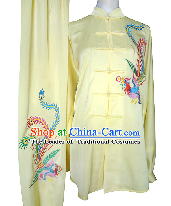 Top Phoenix Embroidery Kung Fu Martial Arts Taekwondo Karate Uniform Suppliers Clothing Dress Costumes Clothes for Men Women Adults Boys Girls Kids